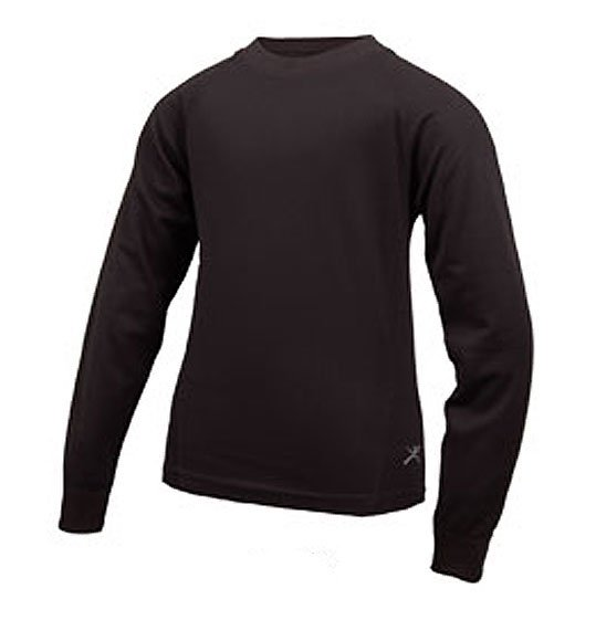 Terramar Microthermal Midweight Underwear Crew Shirt Kid's by Terramar
