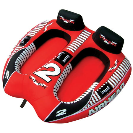 AIRHEAD AHVI-F2 Viper 2 Double Rider Cockpit Inflatable Towable Lake Water - 3 Double Tube