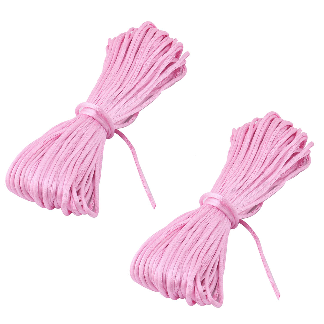 Festival Nylon Handmade Craft DIY Chinese Knot Cord String Magenta 22 Yards 2pcs