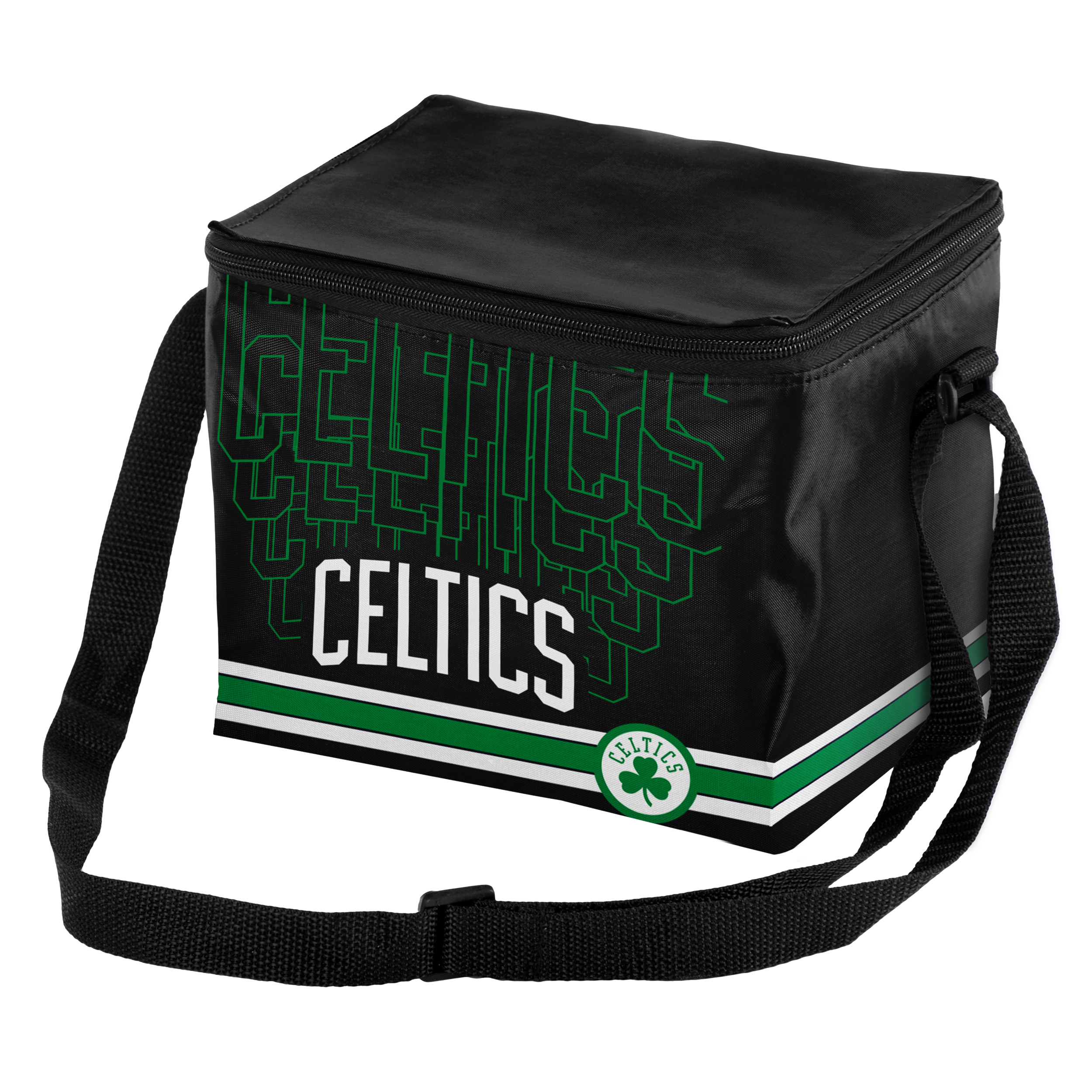 Boston Celtics Official NBA 9.5 inch  x 5 inch  Insulated 6-Pack Cooler by Forever Collectibles