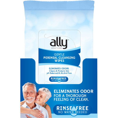 Ally Gentle Perineal Cleansing Wipes, 60 sheets