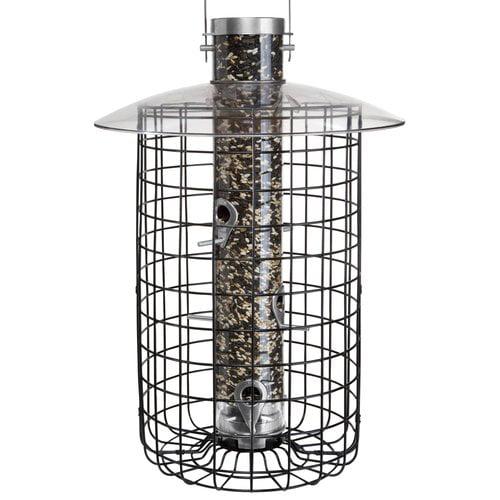 Droll Yankees B7 Domed Caged Sunflower Tube Birdfeeder by Droll Yankees Inc.