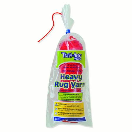 Pacon® Trait-tex® Heavy Rug Yarn, Red - 60 yards per pack, 6 packs