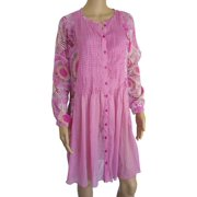 Womens 'Kea' Mini Kaftan Dress, Corail, Size XS/36