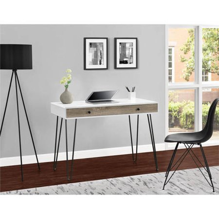 Incredible Ameriwood Home Owen Retro Student Desk White Distressed Gray Oak Home Interior And Landscaping Analalmasignezvosmurscom