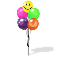 Weatherproof Reusable Seamed Balloon Cluster Pole Kit - Helium Free