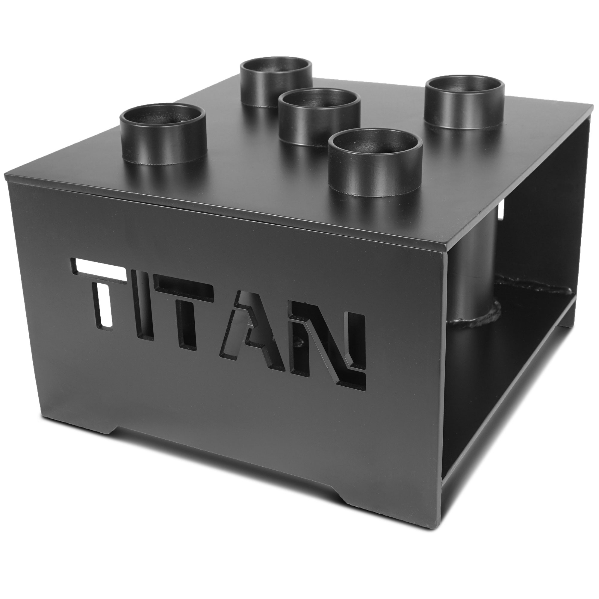 "Titan Fitness Deluxe Olympic Barbell 5 Bar Holder Vertical Storage Rack 12""x12"" by Titan Fitness"