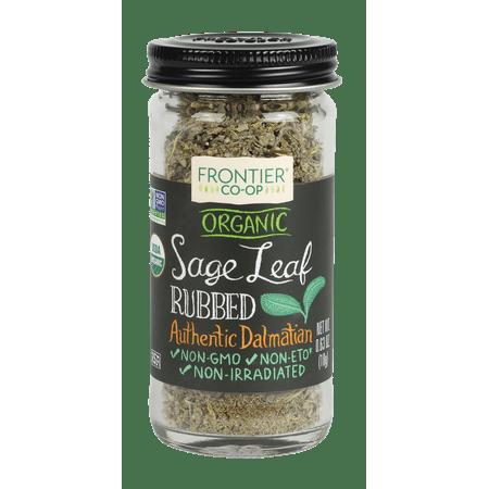 Frontier Co-op Sage Leaf Rubbed Certified Organic 0.63 oz. bottle