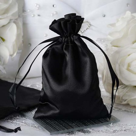fa5c057a652b Efavormart 12PCS Satin Gift Bag Drawstring Pouch for Wedding Party Favor  Jewelry Candy Solid Satin Bags - 4