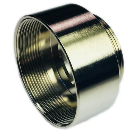 52104460 Gland Adapter Enlarger, Metallic, Nickel Plated Brass, M40 # M50