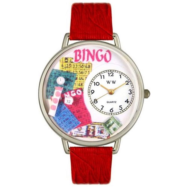 Whimsical Watches Bingo Leather And Silvertone Watch