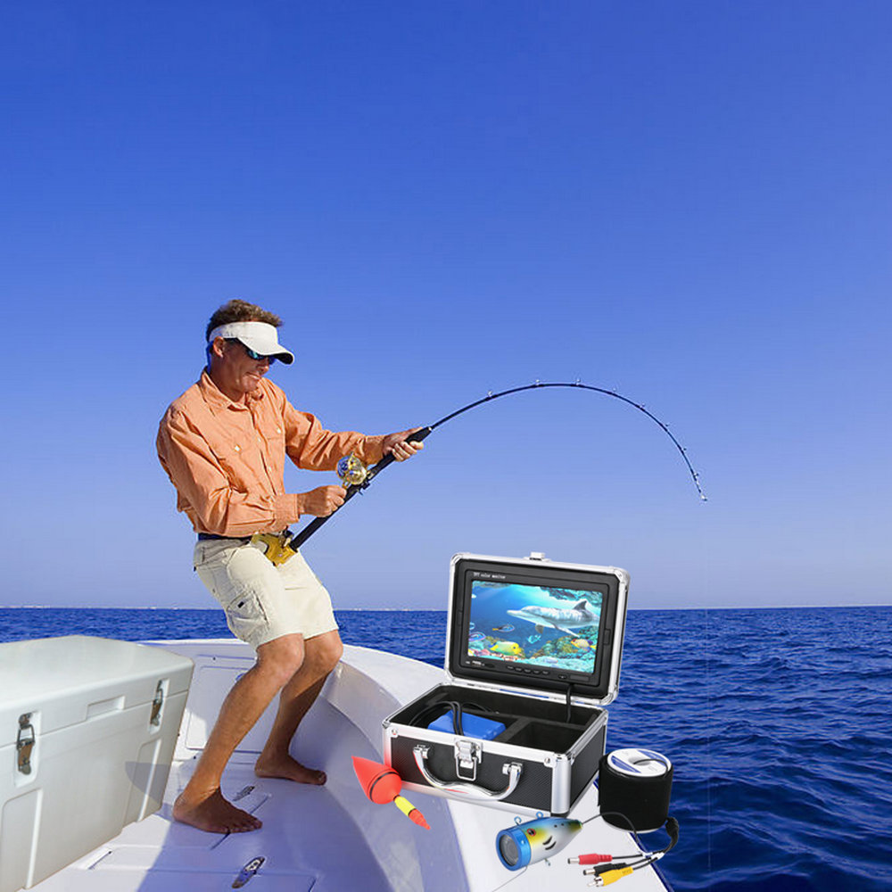 "Zimtown 7"" Color Digital LCD 1000TVL Fish Finder HD DVR R..."