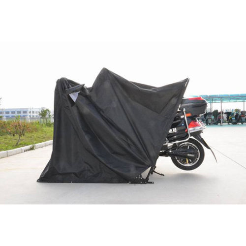 Medium Heavy Duty Motorcycle Storage Garage Shelter Shed Cover Blcak Three Size Ussell 053049