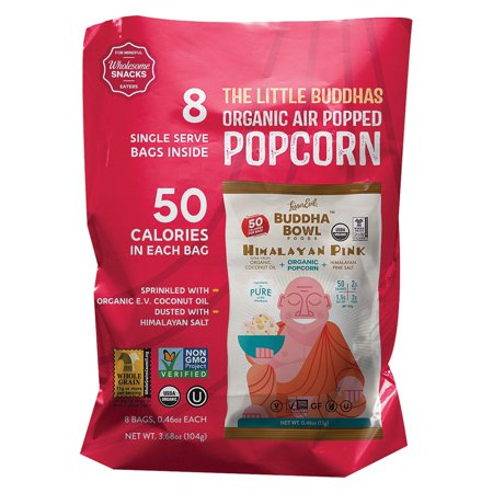 Lesser Evil Organic Air Popped Popcorn - Himalayan Pink - Case Of 12 - 8/.46 Oz (Pink Popcorn)