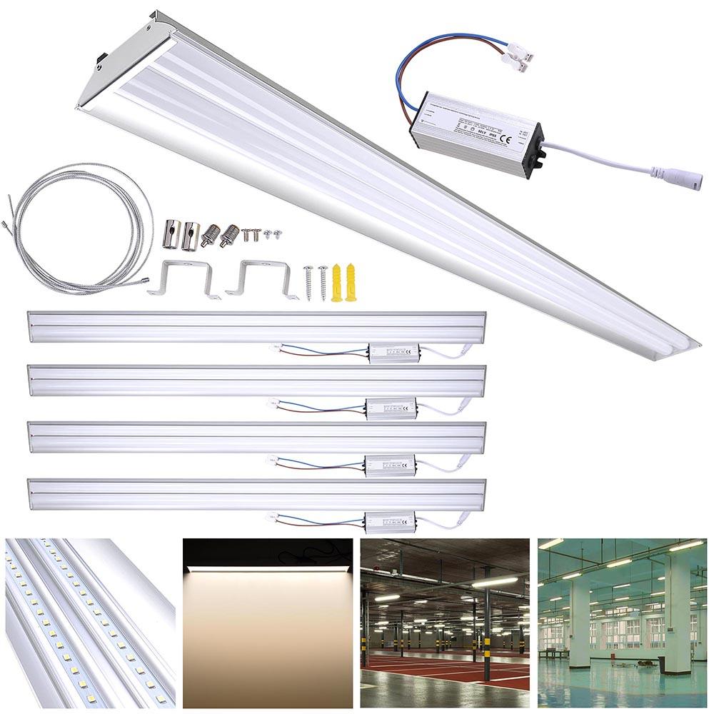 DELight 40W LED Shop Light 4000-4500lm Garage Work Shop Hanging Light Feature Ceiling Light Aluminum by Yescom