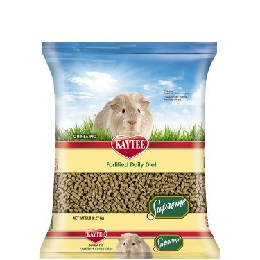 Kaytee Supreme Fortified Daily Diet Guinea Pig Food, 5-lb (50 Lb Bag Of Guinea Pig Food)