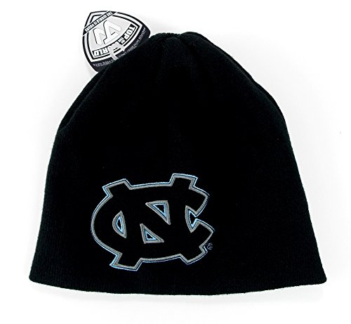 Ncaa North Carolina Tar Heels Embroidered Logo One Size Fits Most Cuff-less Beanie Hat