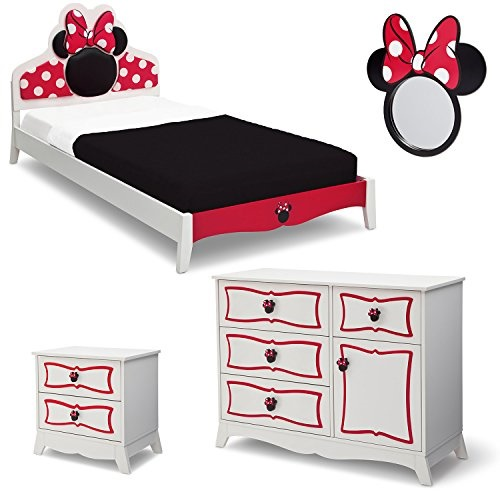 Disney Minnie Mouse Twin Bedroom Collection - White/Pink