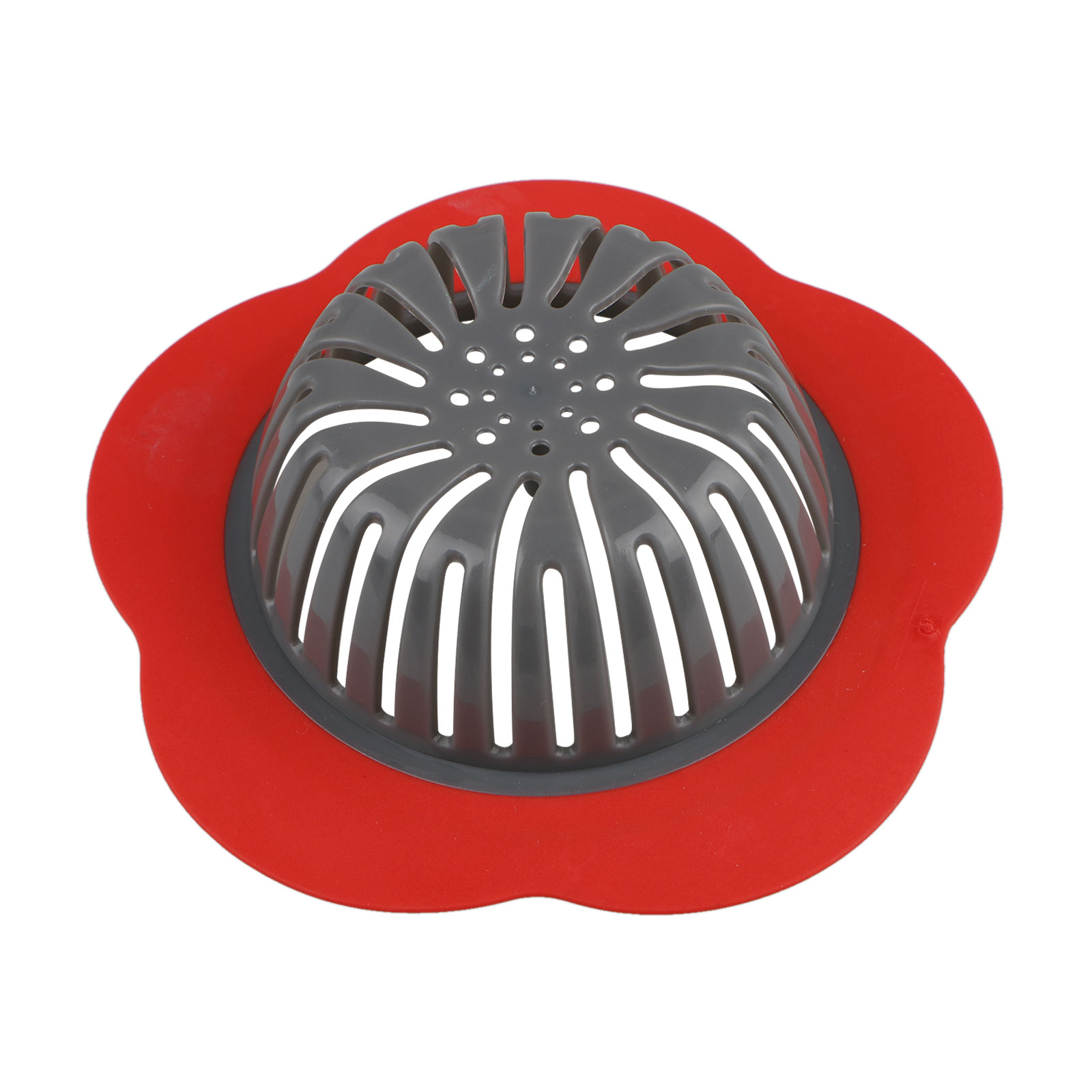Flower Sink Basket Strainer Drain Filter Stopper Drainage Hair Trap Cover Used in Kitchen & Bathroom Blue/Red