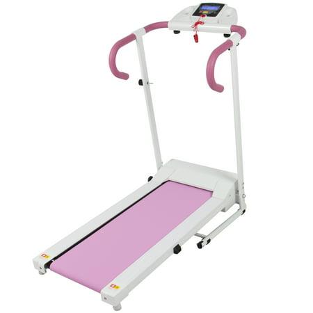 Pink 500W Portable Folding Electric Motorized Treadmill Running Fitness Machine