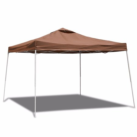 10' X10' Instant Canopy Tent Folding Gazebo with Carry Bag, Brown