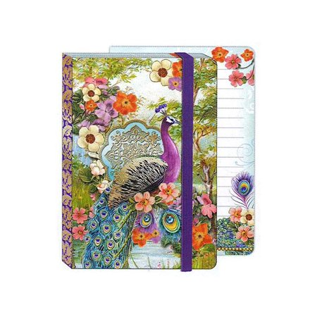 Punch Studio Journal Soft Cover Bungee Peacock