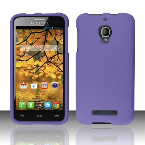 Insten Purple New Ultra Slim Snap-On Hard Cover Phone Case For ALCATEL One Touch Fierce 7024T