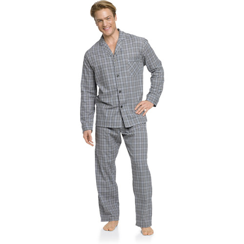 Hanes Big Men's Woven Pajama Set