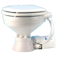 Jabsco 37010-0090 Electric Marine Toilet, Push Button Operation, Macerator, Compact Size, 12 Volt