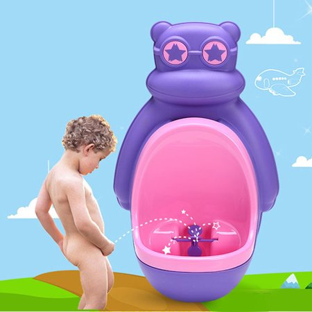 Cute Owl Potty Training Urinal Toilet Urine Train for Children Kids Toddler Baby Boys Pee Trainer Funny Aiming Target,Purple color