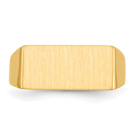 14K Yellow Gold Men's Signet Ring - image 1 de 5