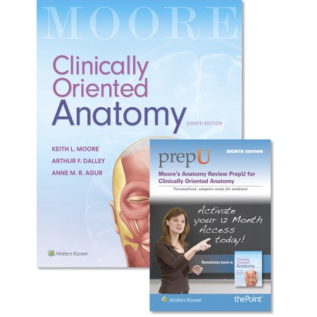 Moore Clinically Oriented Anatomy 8e Text & Moore\'s Anatomy Review ...