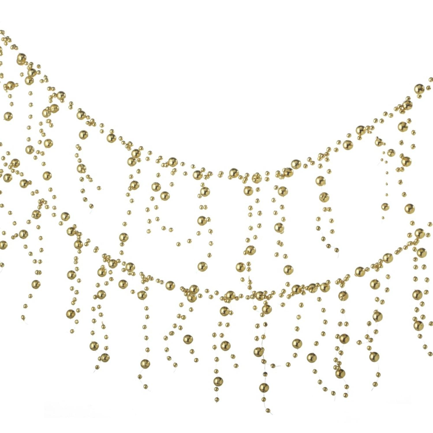 6 time shiny gold beaded garland