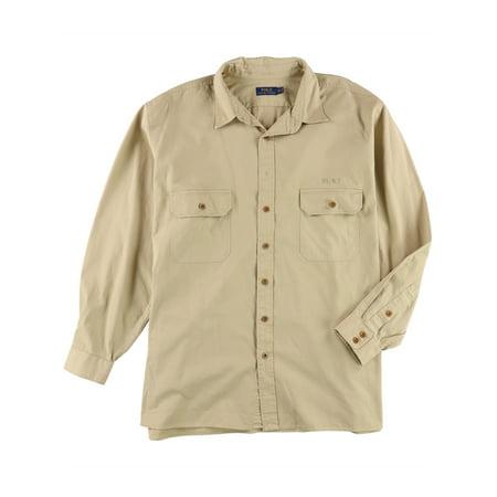 Ralph Lauren Mens Twill Utility Button Up Shirt ()