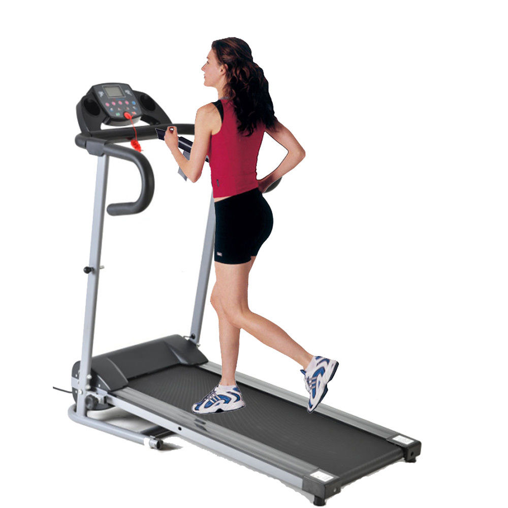 Zimtown Folding Portable 500W (0.67 HP) Exercise Electric Motorized Power Treadmill Gym Equipment Machine for Home Running Walking Fitness Workout Exercise, with Support