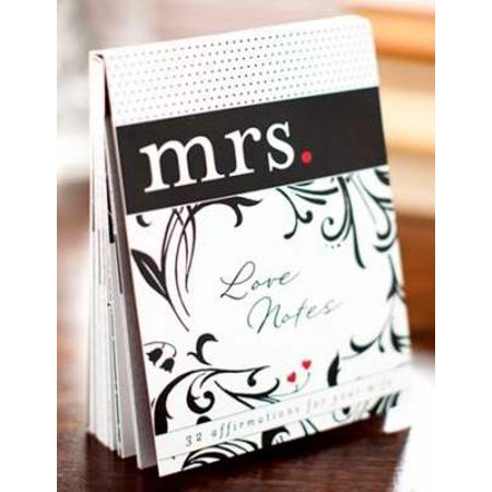 Note Card-Mrs  Love Notes: 32 Affirmations For Your Wife (Pack of 32)