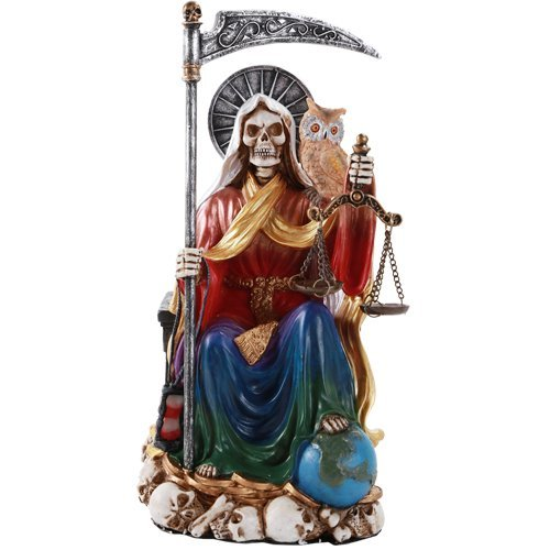 Santa Muerte Saint of Holy Death Seated Religious Statue ...