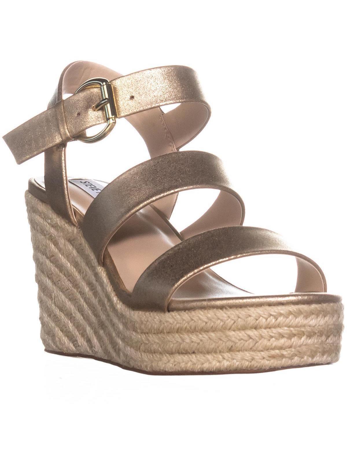 Womens Steve Madden Valery Platform Wedge Sandals, Gold