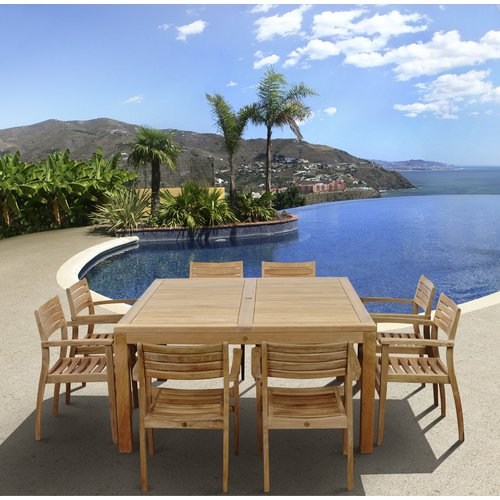 International Home Miami Amazonia Teak Phoenix 9 Piece Dining Set