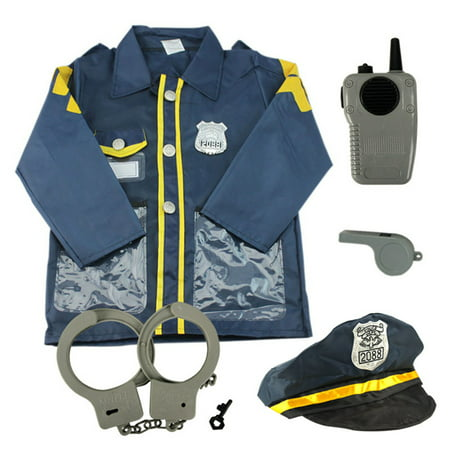 Toptie Child Police Officer Costumes  Cop Role Play Costumes Navy Blue S