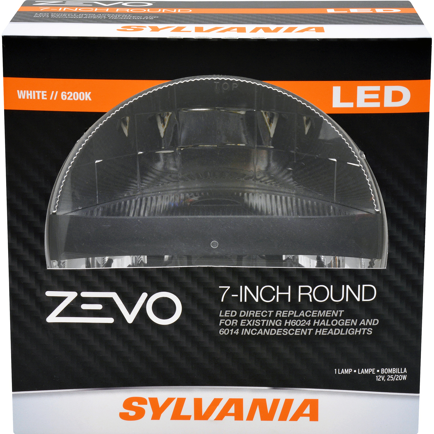 SYLVANIA ZEVO L6024 7IN Round LED Sealed Beam, Contains 1 Bulb