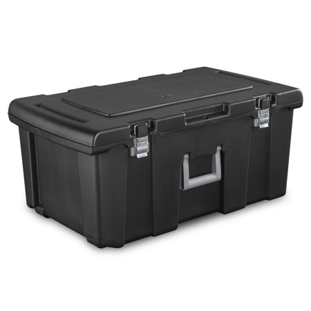 Sterilite Footlocker, Black - Plastic Storage Tubs