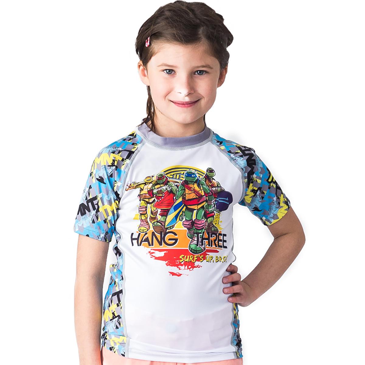 Fusion Fight Gear Kid's TMNT Hang Three Short Sleeve Rashguard
