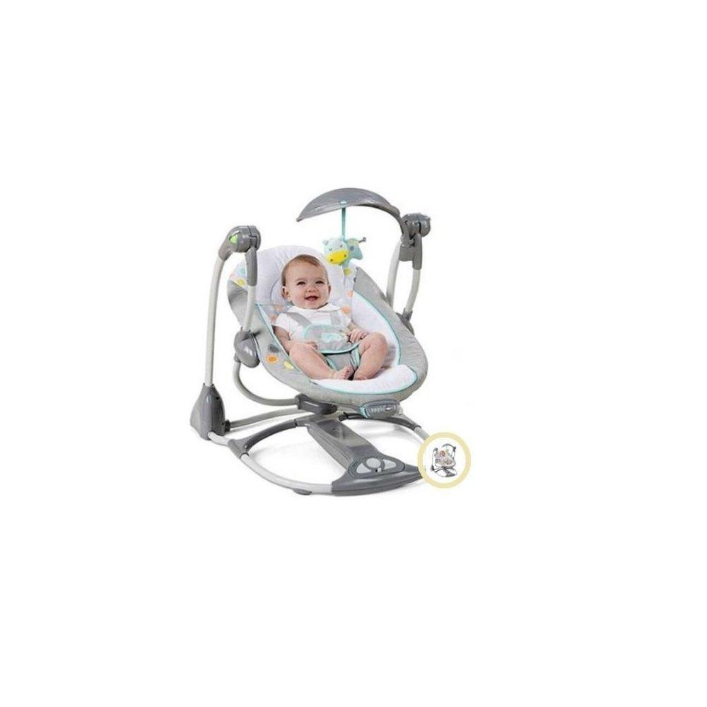 Happy Sweets baby swing 2 seat infant toddler rocker chai...