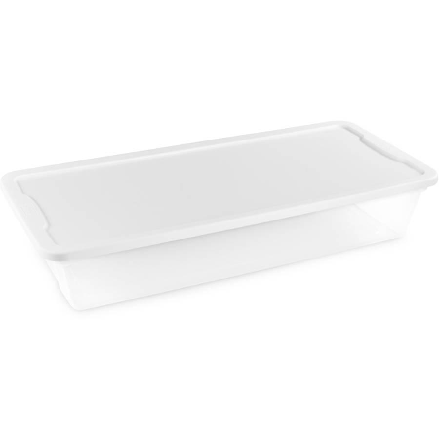 Homz Snaplock® 41 Quart Clear Underbed Storage Container, Set of 6