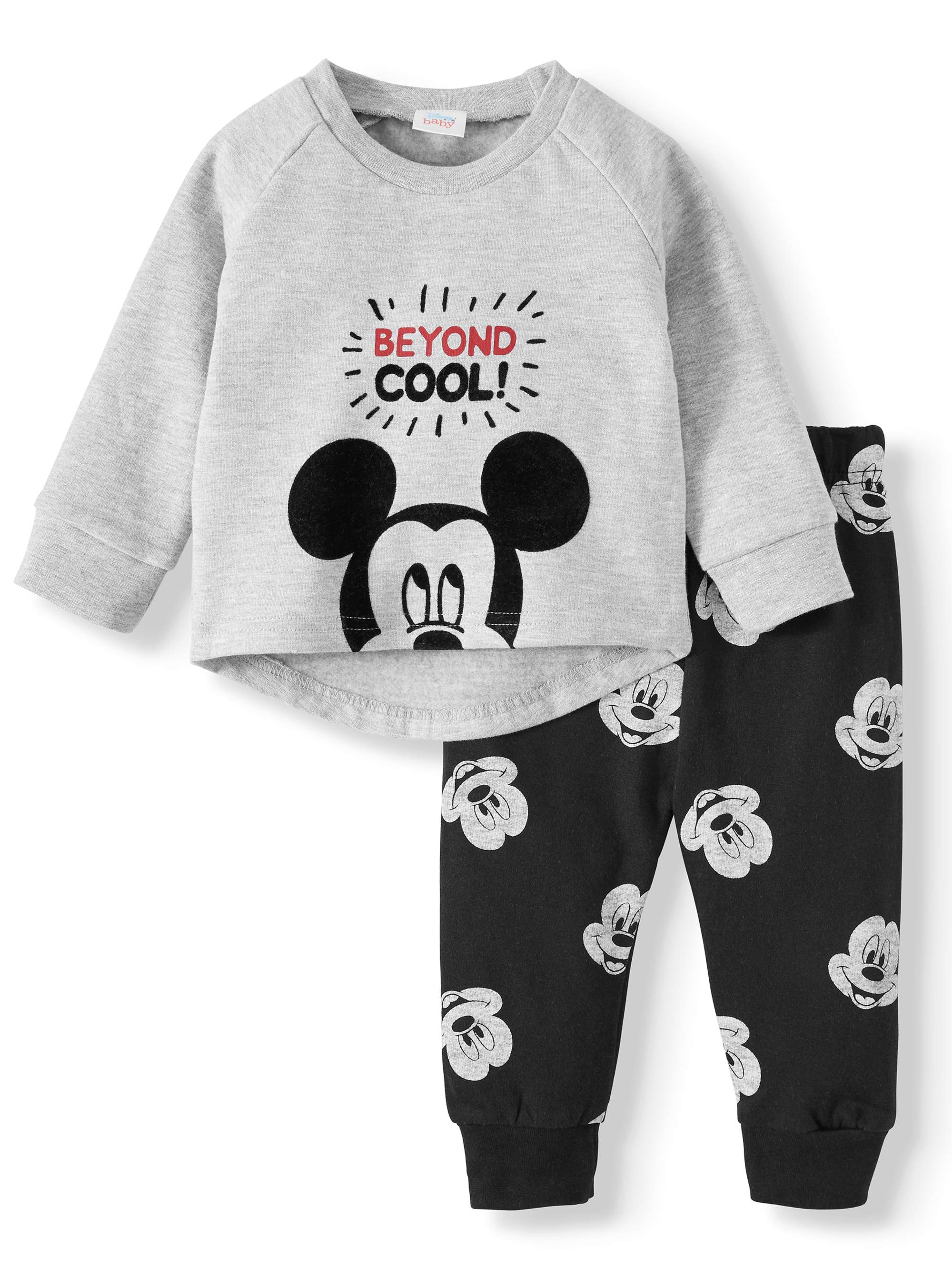 Infant Toddler Boys Mickey Mouse /& Cars *2 PACK* COTTON Pajamas Size 9 12 18 M