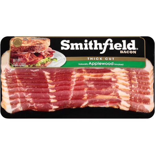 Smithfield Thick Cut Applewood Bacon, 12 oz