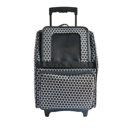 Petote Rio Reverse Noir Dot Pet Carrier