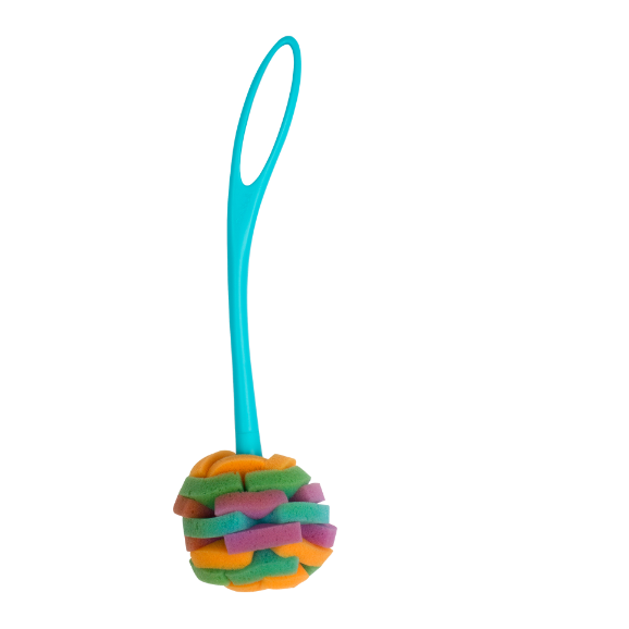 Casabella Loop Sponge Dish Brush, Clean Living, Soft Foam, Long Handled, Kitchen Brush, For Glasses and Wine Glasses