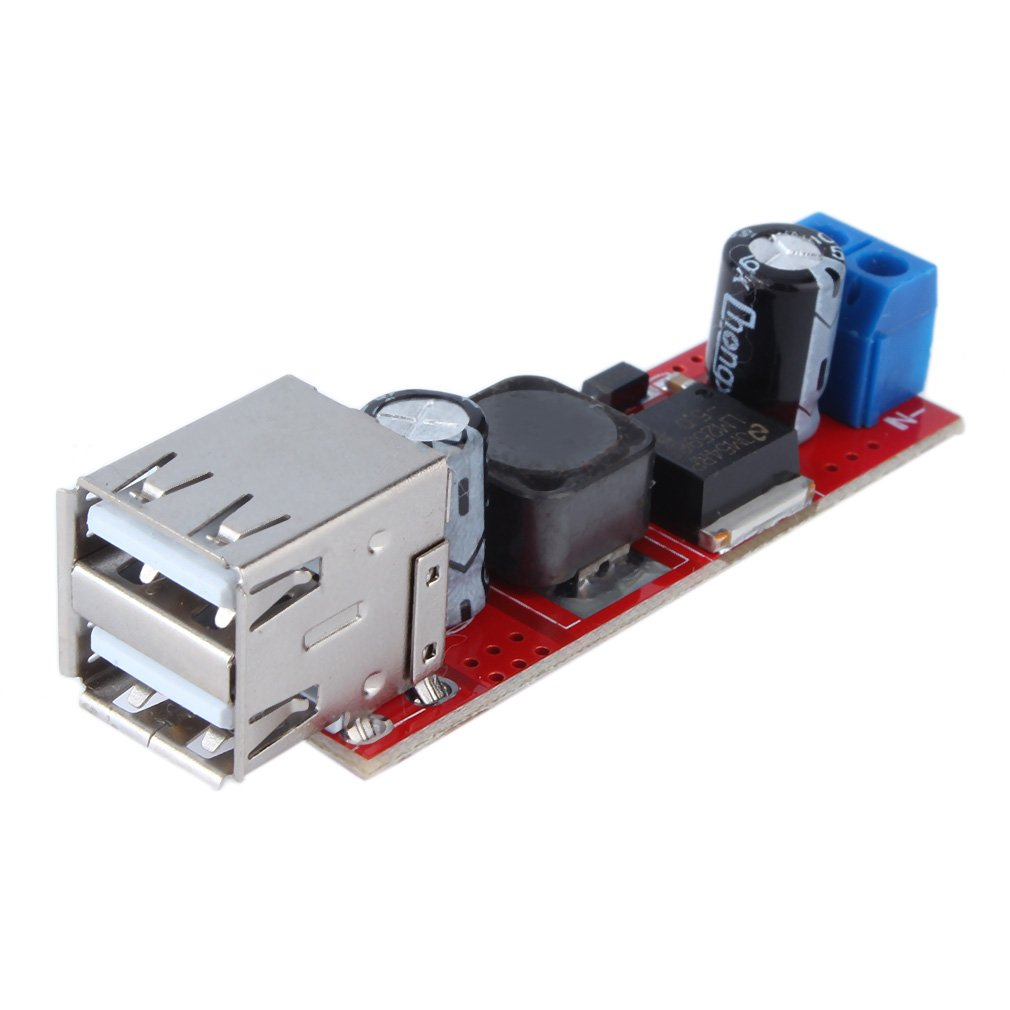 DC 6V-40V To 5V 3A 150KHZ Frequency Double USB Charge DC-DC Step-down Converter Module Step Down Module